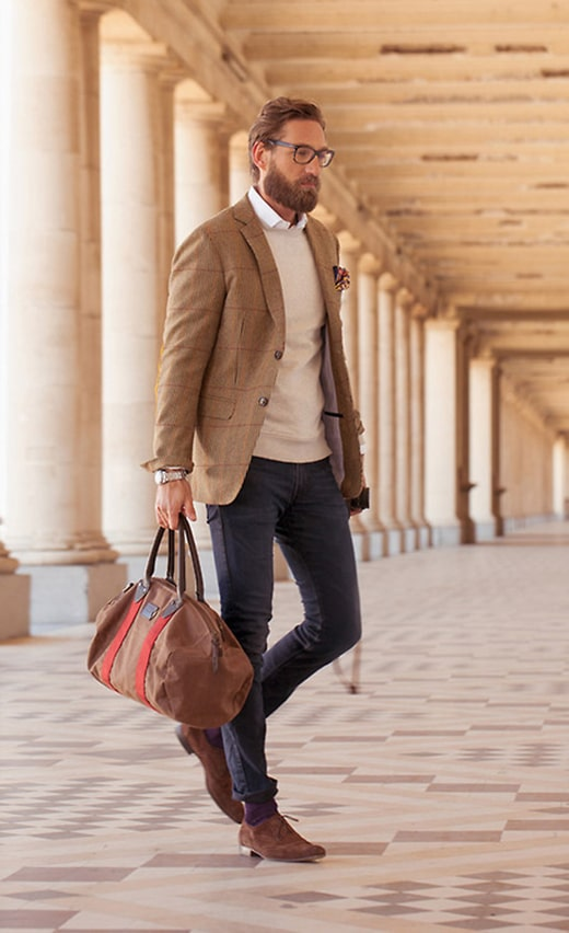 Wear to what with brown suede blazer best photo