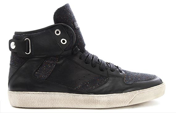 sneakers-montantes-bi-matiere-noir-hoop-paul-and-joe